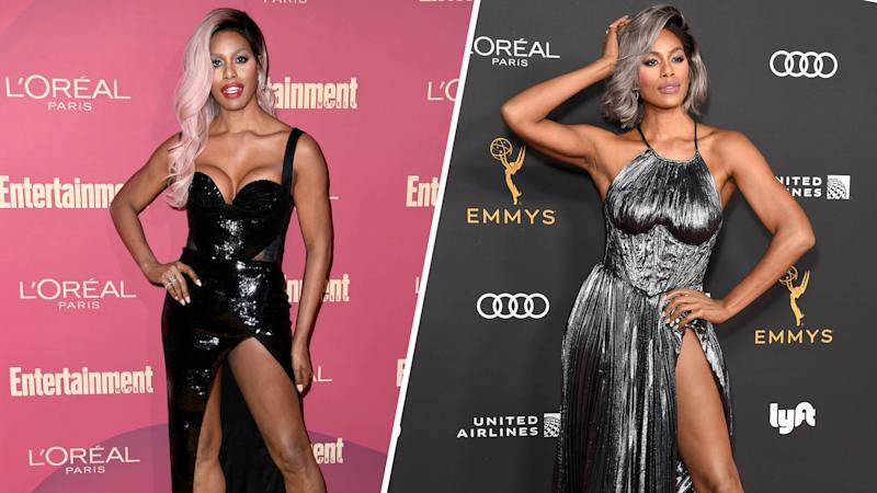 Laverne Cox in 2/3 stunning outfits she wore in one night.