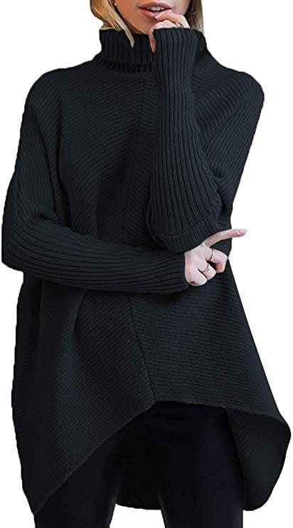 <p>You can't go wrong with the <span>Turtleneck Long Sleeve Sweater</span> ($36) in black.</p>