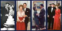 """<p>In the recently released Showtime <a href=""""https://www.townandcountrymag.com/leisure/arts-and-culture/a34658288/the-reagans-nancy-reagan-clip-video/"""" rel=""""nofollow noopener"""" target=""""_blank"""" data-ylk=""""slk:docuseries"""" class=""""link rapid-noclick-resp"""">docuseries</a>, <em>The Reagans</em>, <a href=""""https://www.townandcountrymag.com/leisure/arts-and-culture/a34634592/the-reagans-docuseries-matt-tyrnauer-interview/"""" rel=""""nofollow noopener"""" target=""""_blank"""" data-ylk=""""slk:director Matt Tyrnauer"""" class=""""link rapid-noclick-resp"""">director Matt Tyrnauer</a> argues that Ronald and Nancy Reagan's close personal relationship translated seamlessly into the political arena, and increased the couple's appeal with both the press and the American public. As masters of media and messaging, the Reagans' relationship was meticulously documented on film. Here, take a look back at this American political relationship through the couple's most notable images, from the Reagans' early days as actors through their second term in the White House.</p>"""