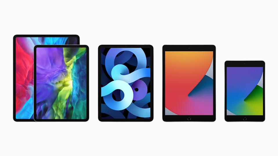 The new iPad Air joins the powerful iPad Pro, the eighth-generation iPad, and iPad mini to form the most advanced iPad lineup ever. (PHOTO: Apple)