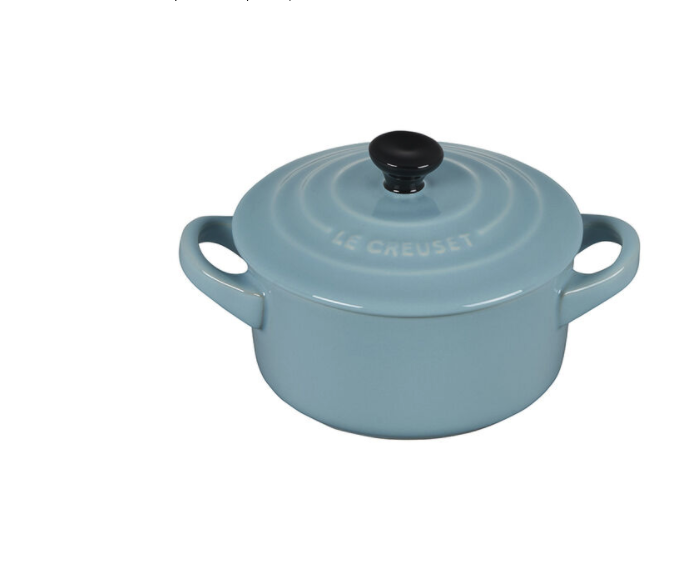 """<p><strong>Le Creuset </strong></p><p>lecreuset.com</p><p><a href=""""https://go.redirectingat.com?id=74968X1596630&url=https%3A%2F%2Fwww.lecreuset.com%2Fmini-round-cocotte-satin-blue-factory-to-table-sale%2FPG1160BK-0813.html&sref=https%3A%2F%2Fwww.cosmopolitan.com%2Ffood-cocktails%2Fg36067224%2Fle-creuset-factory-to-table-sale%2F"""" rel=""""nofollow noopener"""" target=""""_blank"""" data-ylk=""""slk:Shop Now"""" class=""""link rapid-noclick-resp"""">Shop Now</a></p><p><strong><del>$28</del> $14 (50% off)</strong></p><p>Looking forward to hosting your next dinner party? Buy a bunch of these mini cocottes—on sale, obviously—to dress up your tablescape.</p>"""