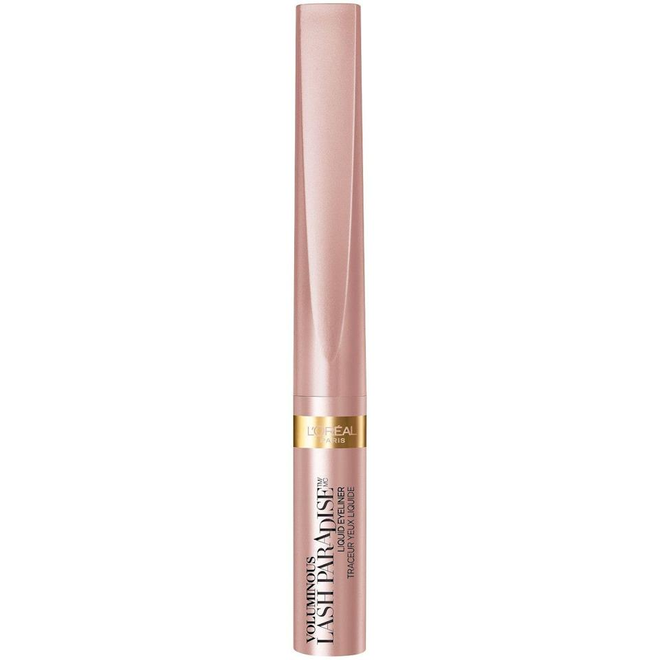 """<p>Already in love with the <a href=""""https://www.refinery29.com/2017/08/168189/best-drugstore-mascara-loreal-lash-paradise"""" rel=""""nofollow noopener"""" target=""""_blank"""" data-ylk=""""slk:Lash Paradise mascara"""" class=""""link rapid-noclick-resp"""">Lash Paradise mascara</a> and craving more from the long-wearing formula? L'Oréal just launched a new iteration on its bestseller in eyeliner form — and it's as good as you imagined.</p><br><br><strong>L'Oreal Paris</strong> Voluminous Lash Paradise Liquid Eyeliner , $7.99, available at <a href=""""https://www.target.com/p/l-or-233-al-paris-voluminous-lash-paradise-liquid-eyeliner-05-fl-oz/-/A-53622608?preselect=75557794#lnk=sametab"""" rel=""""nofollow noopener"""" target=""""_blank"""" data-ylk=""""slk:Target"""" class=""""link rapid-noclick-resp"""">Target</a>"""