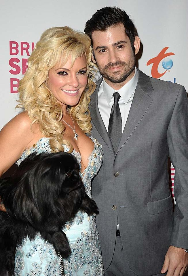"Bridget's beau Nicholas Carpenter and her Pekingese Wednesday were also at the Playboy Mansion to toast her new gig. Jason LaVeris/<a href=""http://www.filmmagic.com/"" target=""new"">FilmMagic.com</a> - March 10, 2009"
