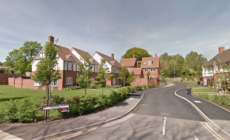 The pair broke into a house at Butterwick Close in Bromsgrove. (Google)