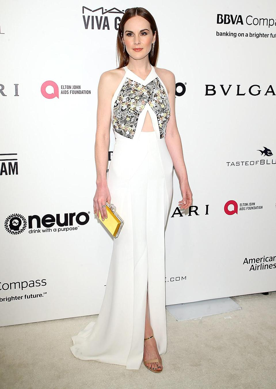 <p>Michelle Dockery arrives at the 25th Annual Elton John AIDS Foundation's Oscar viewing party held at The City of West Hollywood Park on February 26, 2017 in West Hollywood, California. (Photo by Michael Tran/FilmMagic) </p>