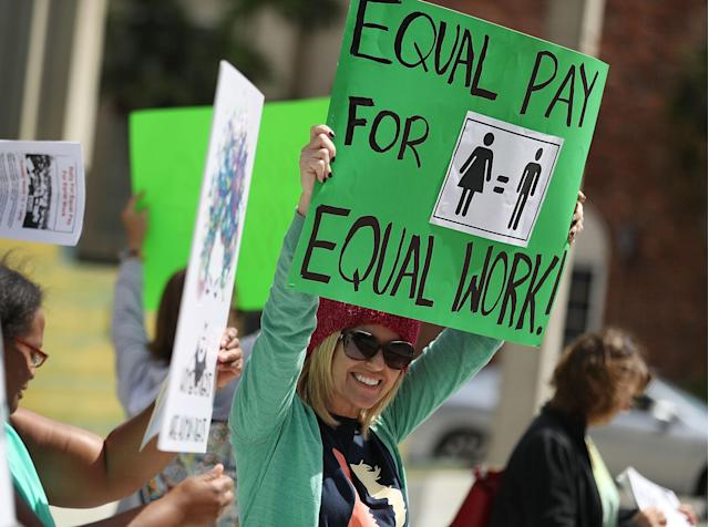 Women Fight For Equal Pay, But The Gender Pay Gap Won't Budge
