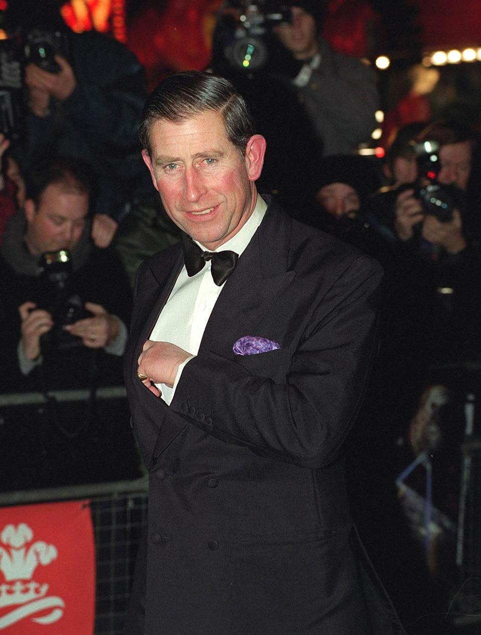 <p>Prince Charles attends the royal premiere of <i>Star Trek: First Contact </i>on Dec. 10, 1996. <i>(Photo: Tim Graham/Getty Images)</i></p>