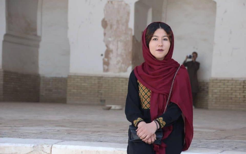 The 23-year-old hopes to empower other Afghan women to stand up for their rights
