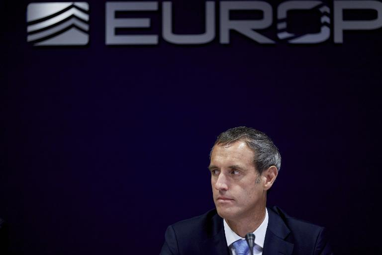 Europol director Rob Wainwright gives a press conference on September 24, 2014 at Europol headquarters in The Hague