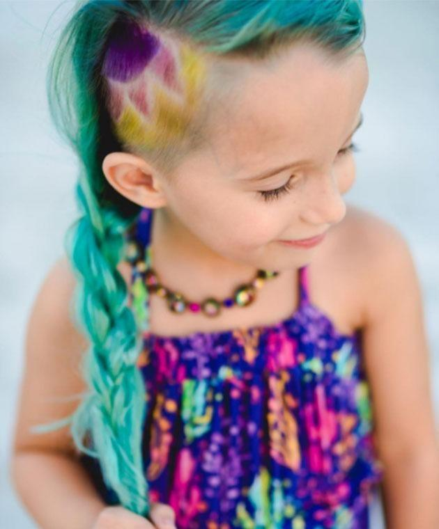 One mum shared this pic of her six-year-old with unicorn hair. Photo: Instagram
