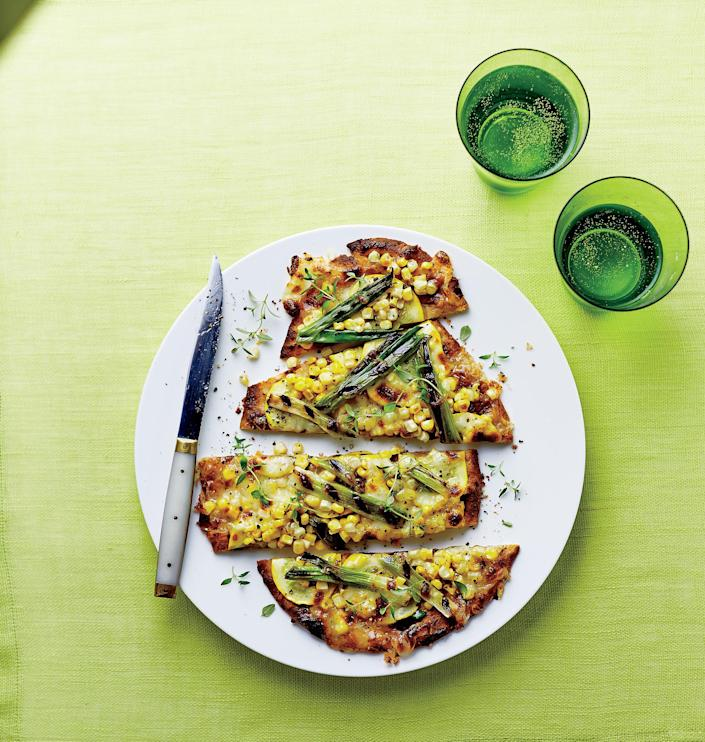 """<p>If you think this vibrant flatbread won't be filling enough for a whole meal, combine it with a simple mixed-greens salad for a delicious all-veggie dinner.</p> <p> <a rel=""""nofollow noopener"""" href=""""http://www.myrecipes.com/recipe/corn-squash-onion-flatbreads"""" target=""""_blank"""" data-ylk=""""slk:View Recipe: Corn, Squash, and Green Onion Flatbreads"""" class=""""link rapid-noclick-resp"""">View Recipe: Corn, Squash, and Green Onion Flatbreads</a></p>"""