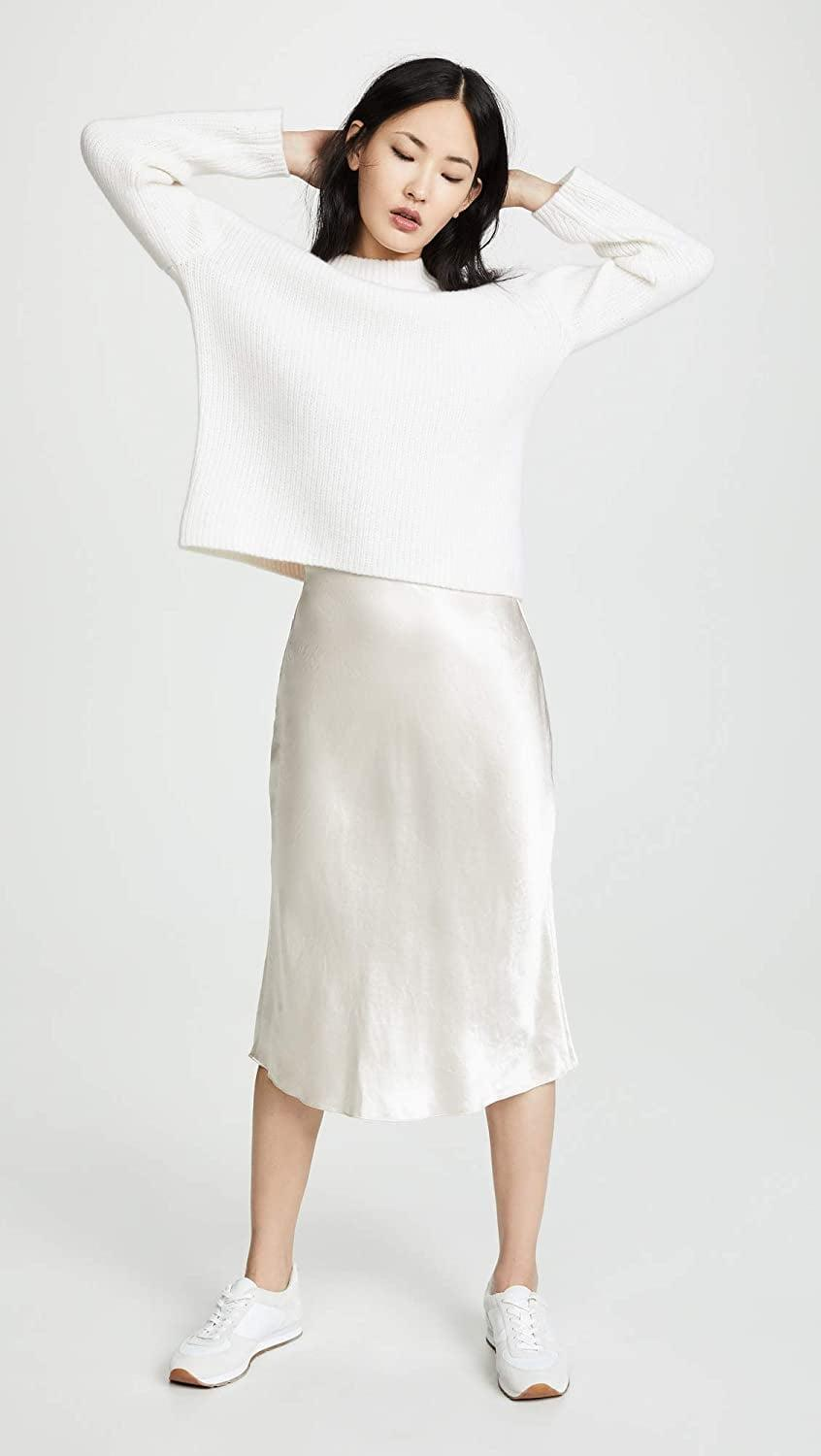 <p>If you gravitate towards neutral colors or shades in the white family, this simple yet elegant <span>Vince Slip Skirt</span> ($265-$285) will speak to your minimalist style. It's also easy to mix and match with anything.</p>