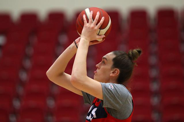 """<a class=""""link rapid-noclick-resp"""" href=""""/wnba/players/5625/"""" data-ylk=""""slk:Breanna Stewart"""">Breanna Stewart</a> will return to the court from an Achilles injury that Kobe Bryant reached out to her about. (Maddie Meyer/Getty Images)"""