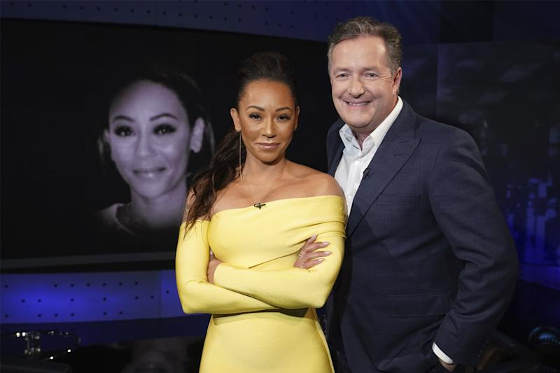 Tell all: Piers Morgan quizzes Mel B in the first episode (ITV Studios)
