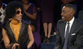 Arsenio Hall And Prince Tie Jimmy Kimmel In Demo