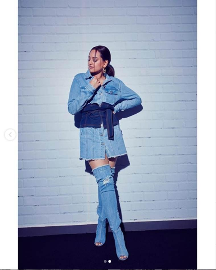 Sonakshi Sinha, Sonakshi Sinha fashion, Sonakshi Sinha denim look fail, Sonakshi Sinha disappoint fashion looks, indian express news, bollywood fashion
