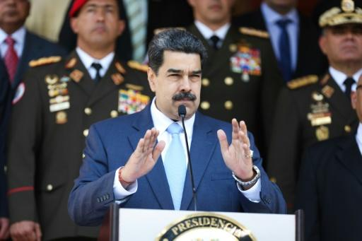 """Venezuela's President Nicolas Maduro, in a handout picture released by Venezuela's presidential palace, has been indicted by the United States on """"narco-terrorism"""" charges"""