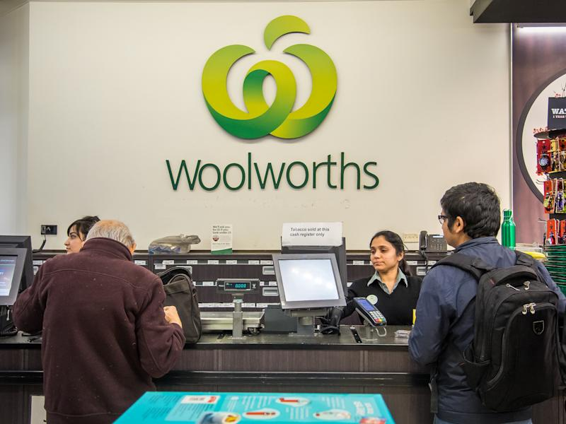 Cash registers inside Woolworths' flagship store.