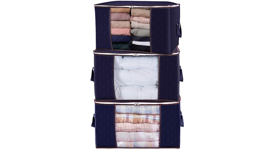 Lifewit Large Capacity Clothes Storage Bag Organizer