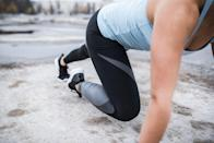 <p>A traditional plank works practically every muscle in the body, but the bear plank takes things a step further and requires a ton of stability and strength.</p><p><strong>How to:</strong> Start on all fours with your back flat, wrists directly under your shoulders, and knees bent resting on the floor. Engage your core and lift your knees, allowing them to hover a few inches off the ground. Step back into a traditional plank with your legs straight, and then step back into the bear plank position. </p>
