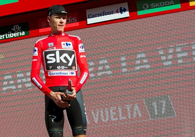 Chris Froome had twice the permissible amount of asthma medication Salbutamol in his system during Spain's Vuelta he won in September (AFP Photo/Jaime REINA)