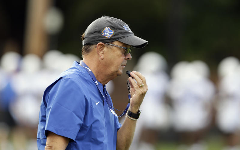 David Cutcliffe and Stadium Worker Dance to James Brown After Win