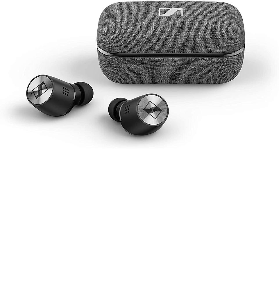 """<p><strong>Sennheiser</strong></p><p>amazon.com</p><p><strong>$239.00</strong></p><p><a href=""""https://www.amazon.com/dp/B085LVV8R7?tag=syn-yahoo-20&ascsubtag=%5Bartid%7C10054.g.37144227%5Bsrc%7Cyahoo-us"""" rel=""""nofollow noopener"""" target=""""_blank"""" data-ylk=""""slk:Buy"""" class=""""link rapid-noclick-resp"""">Buy</a></p><p>These gorgeous buds were created with serious audiophiles in mind, as Sennheiser does with all its audio tech. You won't beat the active noise cancellation, either.</p>"""