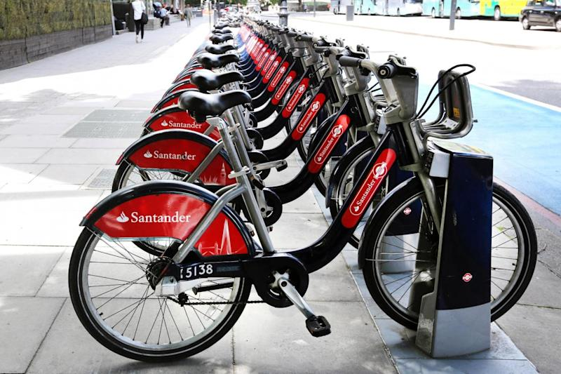 Boris bikes cannot be hired further north than Angel. (PA Wire/PA Images)