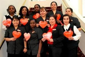 Melville Marriott Goes Red to Support the American Heart Association