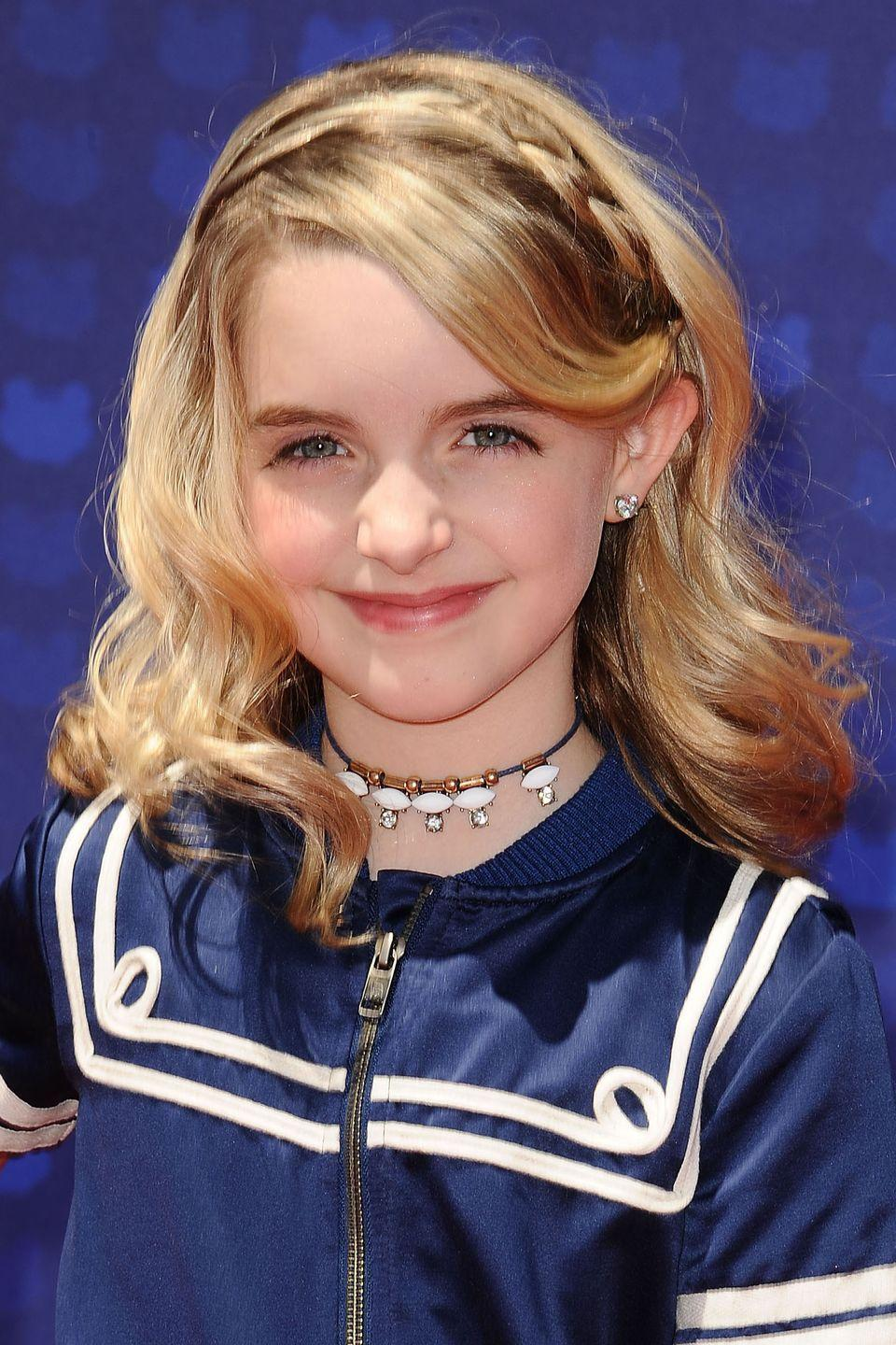 <p>Dress up plain hair with an easy braided headband like <strong>McKenna Grace</strong>'s. Seriously, all you need is a bobby pin and some novice braiding skills. </p>