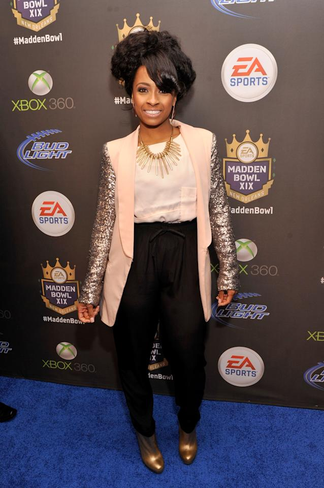 NEW ORLEANS, LA - JANUARY 31:  Recording artist Shanell arrives at EA SPORTS Madden Bowl XIX at the Bud Light Hotel on January 31, 2013 in New Orleans, Louisiana.  (Photo by Stephen Lovekin/Getty Images for Bud Light)