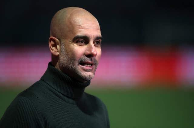 Guardiola's side are top of the Premier League ahead of their trip to Liverpool