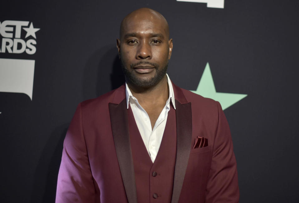 """FILE - Morris Chestnut poses in the press room at the BET Awards on June 23, 2019, in Los Angeles. Affluent Black families are the focus of """"Our Kind of People,"""" a new Fox drama series from """"Empire"""" creator Lee Daniels and starring Morris Chestnut that will join the network's fall schedule. (Photo by Richard Shotwell/Invision/AP, File)"""