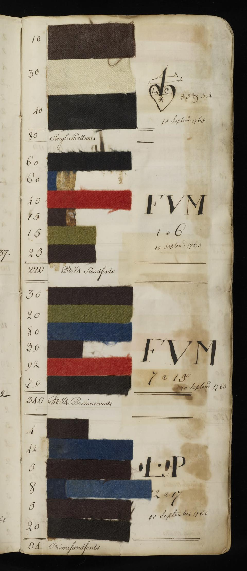 The 18th century fabric was discovered accidentally in an archive in London (University of Exeter/PA).