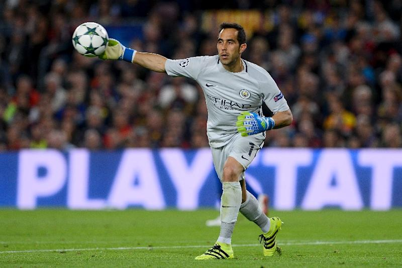 Guardiola's men were undone by the second-half dismissal of goalkeeper Claudio Bravo on October 19, when Lionel Messi scored a hat-trick to propel Barcelona five points clear of City in the group (AFP Photo/Josep Lago)