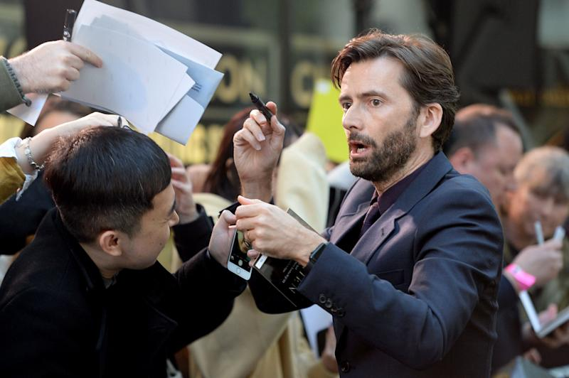 "David Tennant attends the ""Tolkien"" UK premiere at The Curzon Mayfair on April 29, 2019 in London, England. (Photo by Dave J Hogan/Getty Images)"