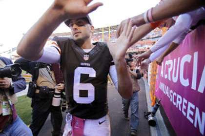 You better believe fans are getting behind Brian Hoyer. (AP)