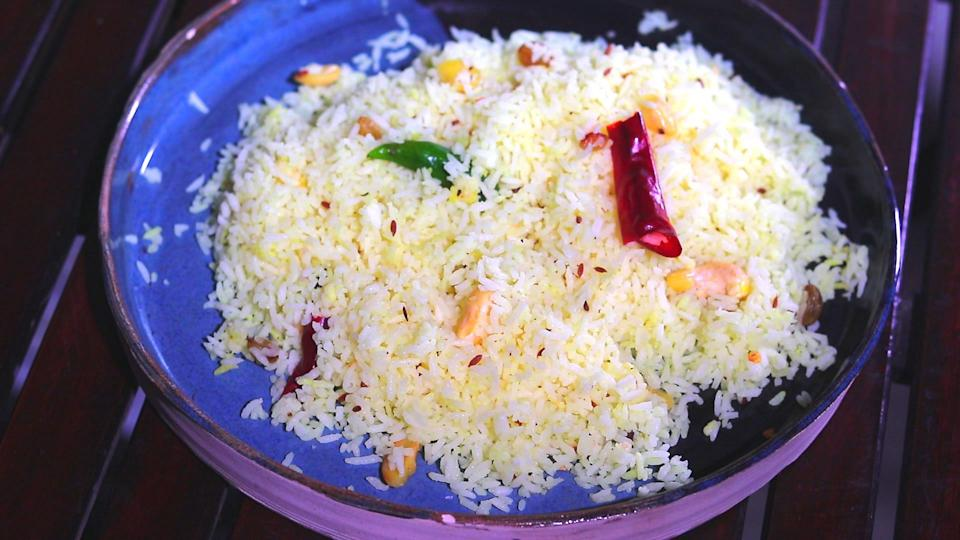 Basanti Pulao which is also called sweet pulao.