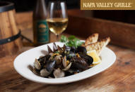 """<b>SoCal eats</b>. Check your local eateries and beer houses for giveaways. In Los Angeles, for instance, Angelenos have until March 20 to """"like"""" <a href=""""https://www.facebook.com/NapaValleyGrilleWestwood"""" rel=""""nofollow noopener"""" target=""""_blank"""" data-ylk=""""slk:Napa Valley Grille Westwood"""" class=""""link rapid-noclick-resp"""">Napa Valley Grille Westwood</a> or <a href=""""http://cafedelreymarina.com/936/bracket-challenge/"""" rel=""""nofollow noopener"""" target=""""_blank"""" data-ylk=""""slk:Cafe del Rey"""" class=""""link rapid-noclick-resp"""">Cafe del Rey</a>, or both, and submit their bracket to win a party for six ($300 value), $100 in dining cards, or an all-expenses-paid trip to Vegas for the perfect bracket. (Did we mention the quintillion stuff?)"""