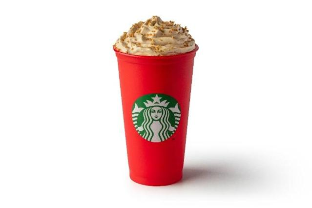 A favourite, the Gingerbread Latte is made with whipped cream - and up to 48g of sugar.