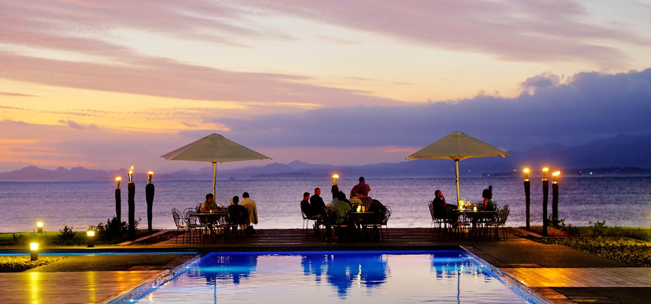 <p>Despite their busy schedule, hopefully they'll find some time to enjoy the sunset together. Source: Grand Pacific Hotel Fiji </p>