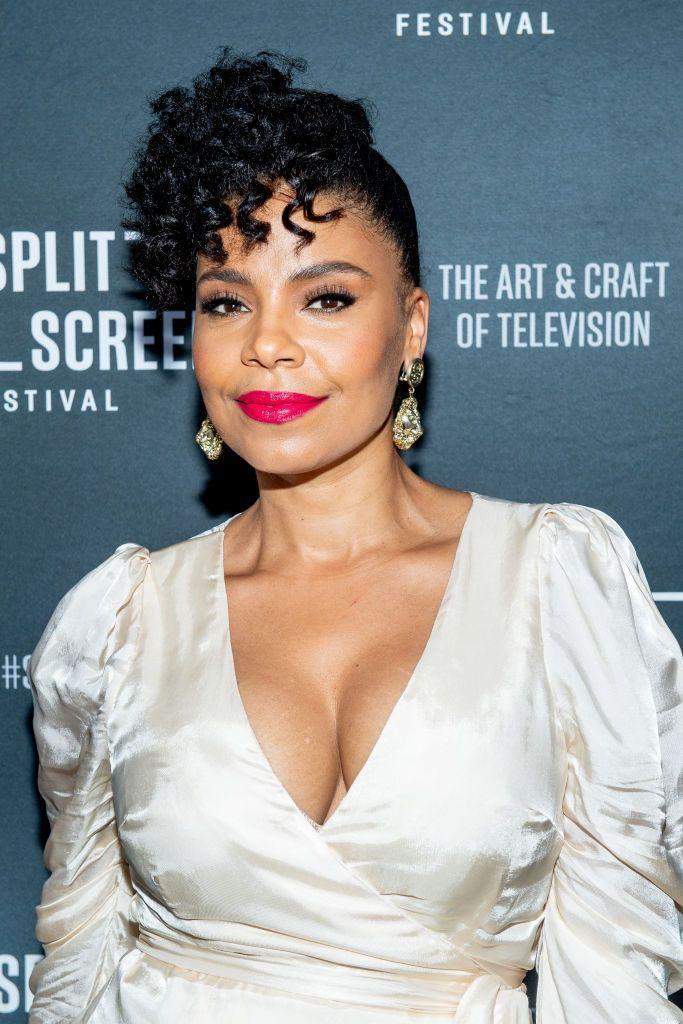 """<p>When in doubt, go for curls. Actress <strong>Sanaa Lathan</strong> dons romantic ringlets <a href=""""https://www.goodhousekeeping.com/beauty/hair/g2963/haircuts-with-bangs/"""" rel=""""nofollow noopener"""" target=""""_blank"""" data-ylk=""""slk:as bangs"""" class=""""link rapid-noclick-resp"""">as bangs</a> while slicking the rest of her hair into an updo. </p>"""