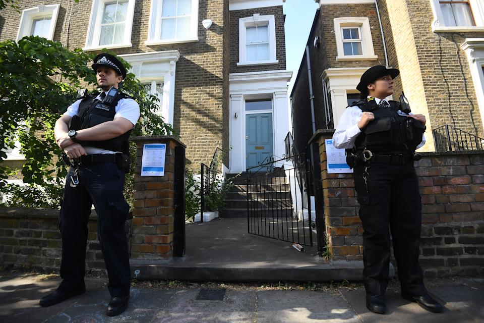 Police remain outside the north London home of Prime Minister Boris Johnson's top aide Dominic Cummings as the row over his trip to Durham during lockdown continues.