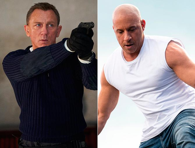 Imágenes promocionales de 'Sin tiempo para morir' (Nicola Dove, ©2019 DANJAQ, LLC AND MGM. ALL RIGHTS RESERVED.), 'Fast & Furious 9' (Photo Credit: Giles Keyte/Universal Pictures)