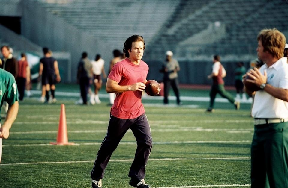 <p>Thirty-year-old football fan Vince Papale thought his chances of playing his favorite sport were long gone. After getting the chance to try out for the Philadelphia Eagles, he winds up as the oldest rookie in the NFL who didn't even play college ball, but that's only the beginning of his story.</p> <p><span>Watch <strong>Invincible</strong> on Disney+.</span></p>