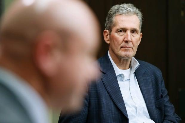 Manitoba Premier Brian Pallister and  Dr. Brent Roussin, chief provincial public health officer, announced new vaccine and mask mandates for public employees and indoor spaces Tuesday. (John Woods/The Canadian Press - image credit)