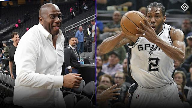 The Raptors acquired Kawhi Leonard in a blockbuster trade with the Spurs, but the Lakers know Leonard will be thinking of them once he hits free agency next summer.