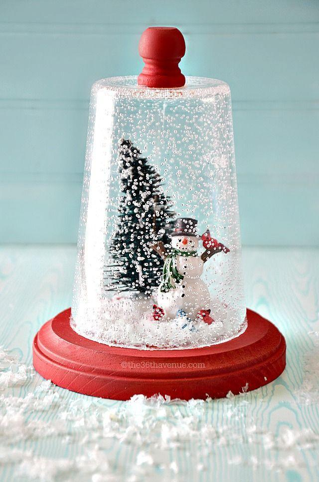 """<p>The secret to this snowy centerpiece? A clear plastic cup from any discount store!</p><p><strong><strong>Get the tutorial at</strong> <a href=""""http://www.the36thavenue.com/snow-globe-christmas-gift-idea/"""" rel=""""nofollow noopener"""" target=""""_blank"""" data-ylk=""""slk:The 36th Avenue"""" class=""""link rapid-noclick-resp"""">The 36th Avenue</a>. </strong></p><p><a class=""""link rapid-noclick-resp"""" href=""""https://www.amazon.com/Apple-Barrel-Acrylic-Classic-Christmas/dp/B077VYSGK6/ref=sr_1_13?dchild=1&keywords=RED+CRAFT+PAINT&qid=1603313356&sr=8-13&tag=syn-yahoo-20&ascsubtag=%5Bartid%7C10050.g.2832%5Bsrc%7Cyahoo-us"""" rel=""""nofollow noopener"""" target=""""_blank"""" data-ylk=""""slk:SHOP CRAFT PAINT"""">SHOP CRAFT PAINT</a></p>"""