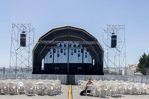 """<span class=""""caption"""">'To hell with going to the beach.'</span> <span class=""""attribution""""><a class=""""link rapid-noclick-resp"""" href=""""https://www.shutterstock.com/image-photo/empty-outdoor-concert-stage-on-sunny-547959106"""" rel=""""nofollow noopener"""" target=""""_blank"""" data-ylk=""""slk:Mauro Rodrigues"""">Mauro Rodrigues</a></span>"""