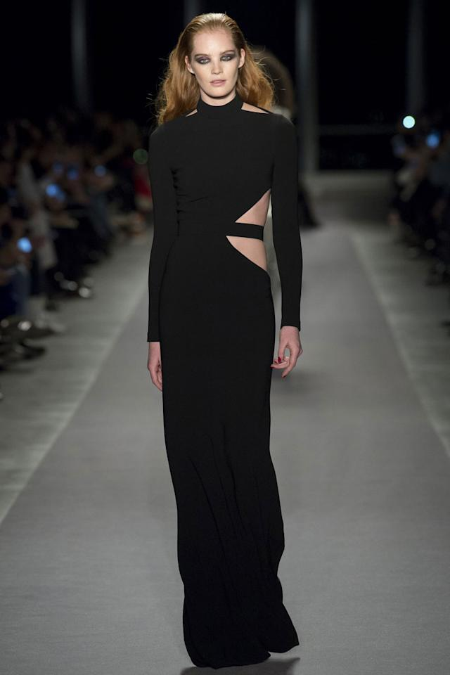 <p>A very Tom Ford/Gucci-esque black dress. Elegant but the cut-out makes this sexy as hell. (Photo: Getty Images) </p>